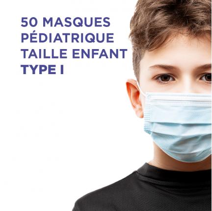 MASQUES TYPE 1 TAILLE ENFANT boîte de 50